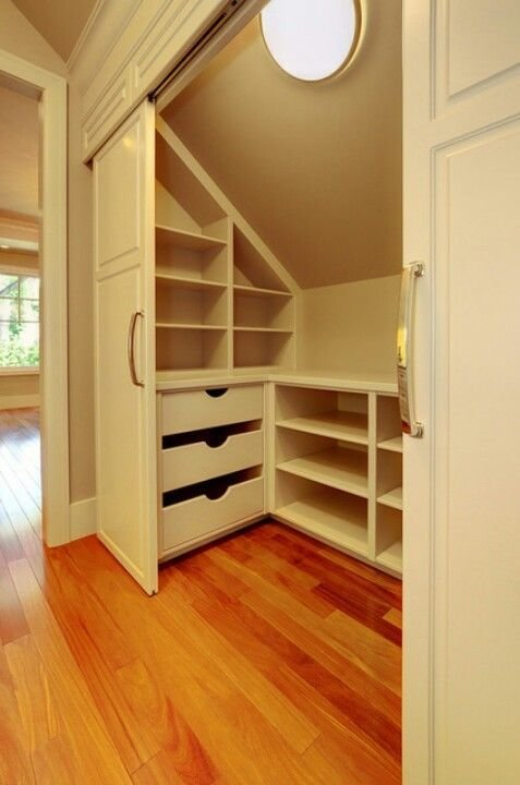 Best Slanted Roof Closet Storage Great Idea For Kids Rooms At With Pictures