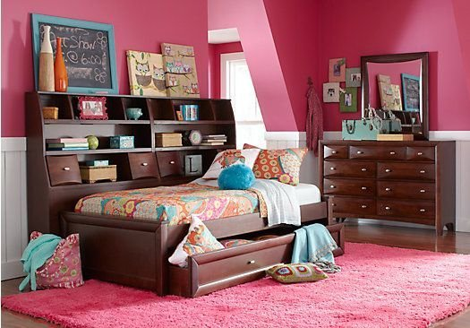 Best Picture Of Ivy League Cherry 7 Pc Full Daybed Bedroom From T**N Bedroom Sets Furniture Guest With Pictures