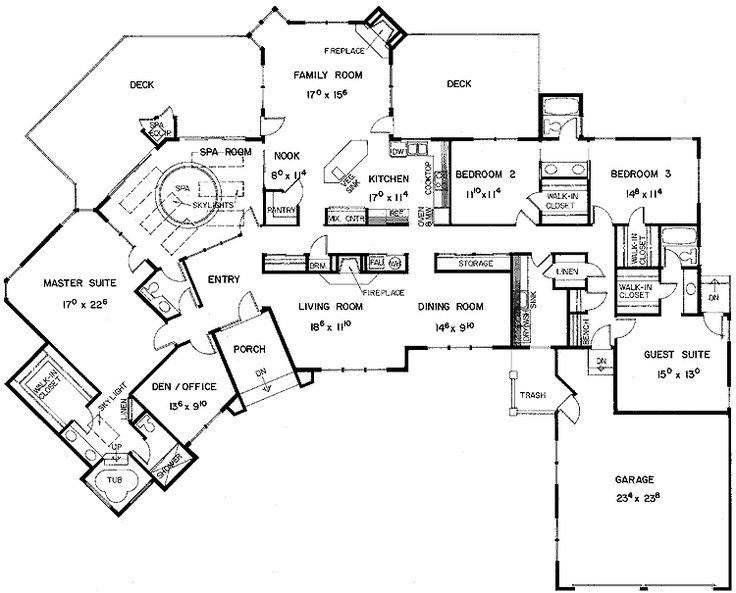 Best Floor Plans Aflfpw21128 1 Story European Home With 5 With Pictures