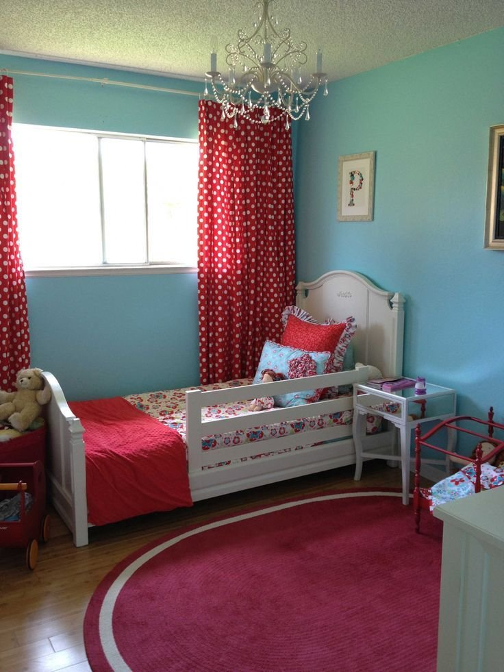 Best Toddler Room Pink Instead Of Red For My Girl For The With Pictures