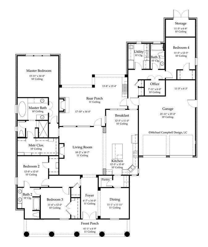 Best House Plan 2776 Square Feet 4 Bedroom 3 Bath Louisiana With Pictures