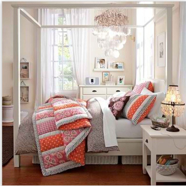 Best Pottery Barn T**N Love The Stripes Girls Bedroom Ideas With Pictures