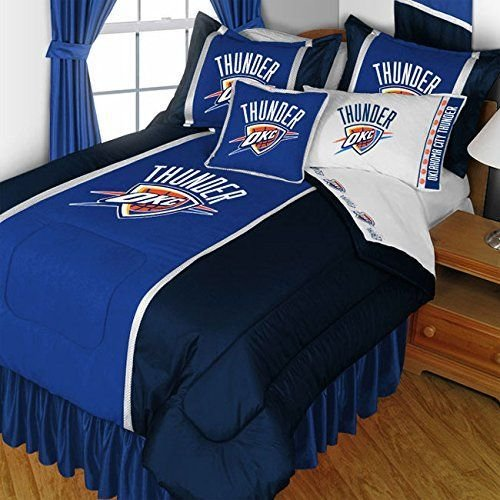 Best Nba Oklahoma City Thunder Twin Bedding Set Basketball Bed With Pictures