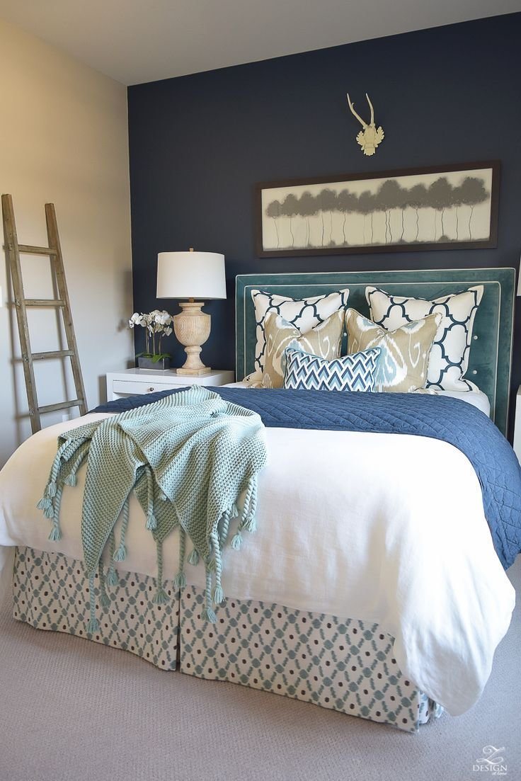 Best 17 Best Ideas About Blue Accent Walls On Pinterest Navy Master Bedroom Dark Blue Walls And With Pictures