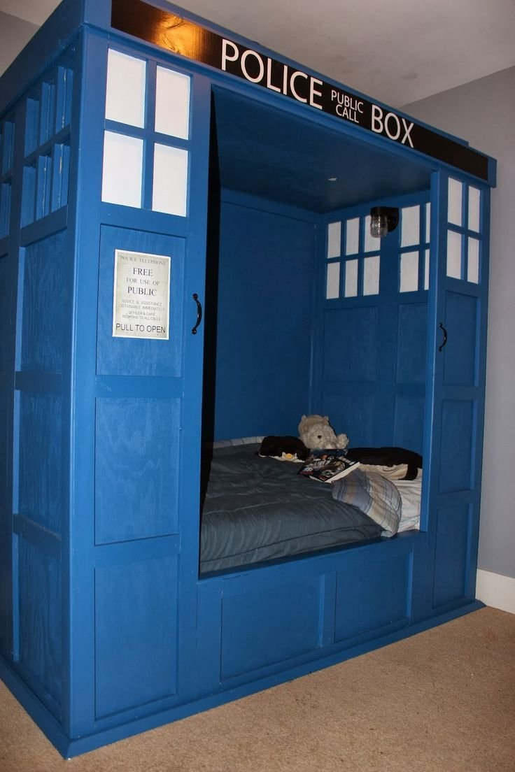 Best Dr Who Tardis Bed Build Bedroom My Likes Pinterest With Pictures