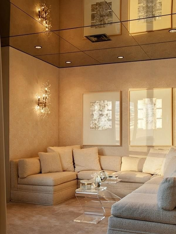 Best Cream Cloud Mirrored Ceiling Style Your Room With Pictures