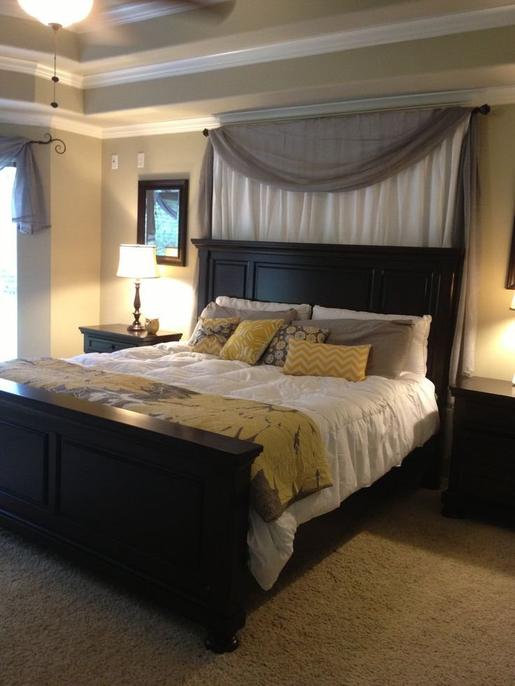 Best Minus The Curtains White Grey Yellow Master Bedroom With Pictures