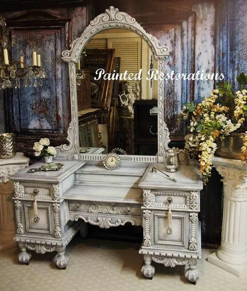 Best Ornate Victorian Vanity Makeover By Painted Restorations With Pictures