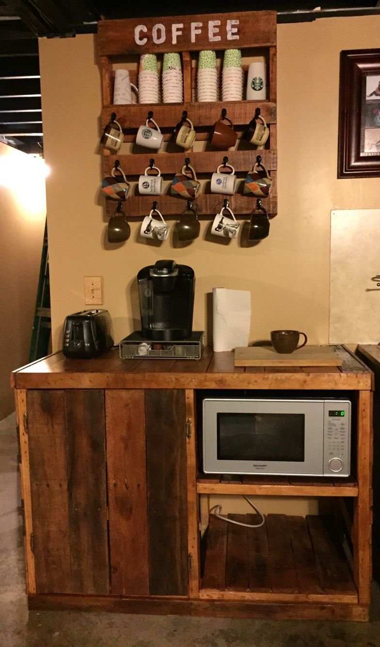 Best Pallet Coffee Microwave Cart Pallet Project Exactly With Pictures