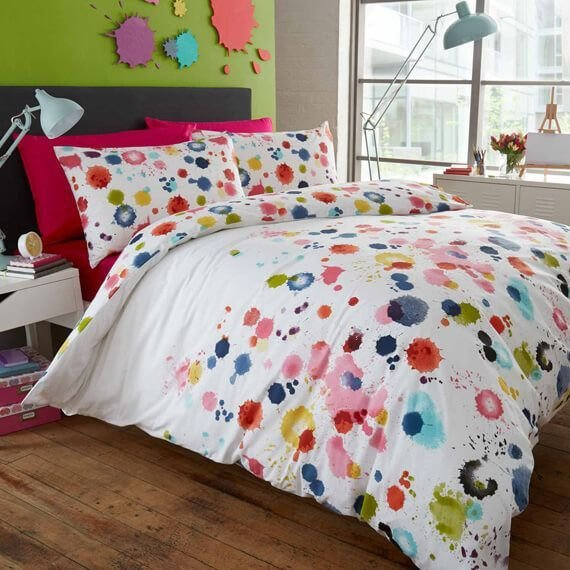Best Paint Splatter Duvet Cover Bedroom Decor Ideas With Pictures
