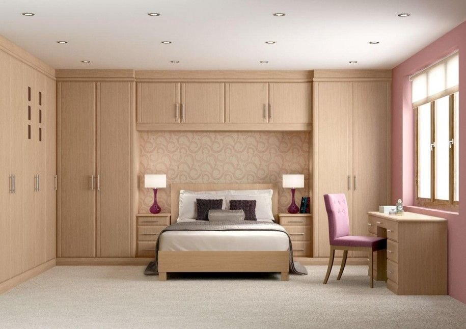 Best Awesome Bedroom Design With Wooden Wall Mounted Wardrobe With Pictures