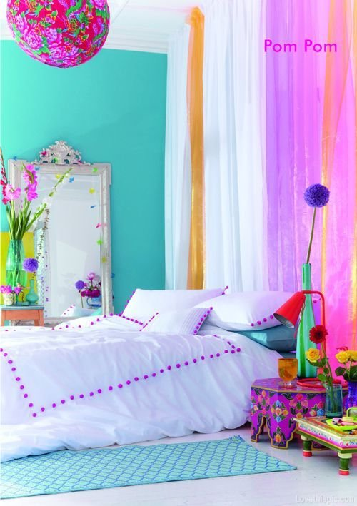 Best Bright Colored Bedrooms On Pinterest Room Dividers Kids With Pictures