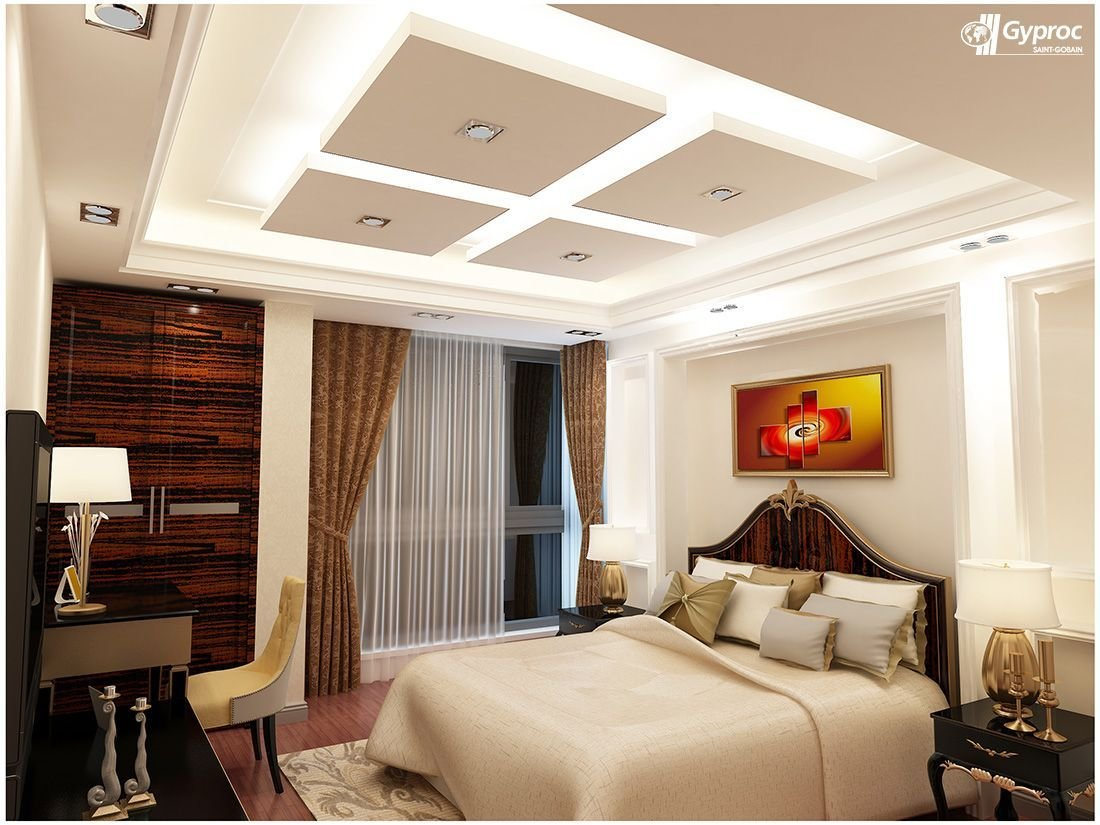 Best Gyproc  Falseceiling Can Completely Change Your Bedroom With Pictures