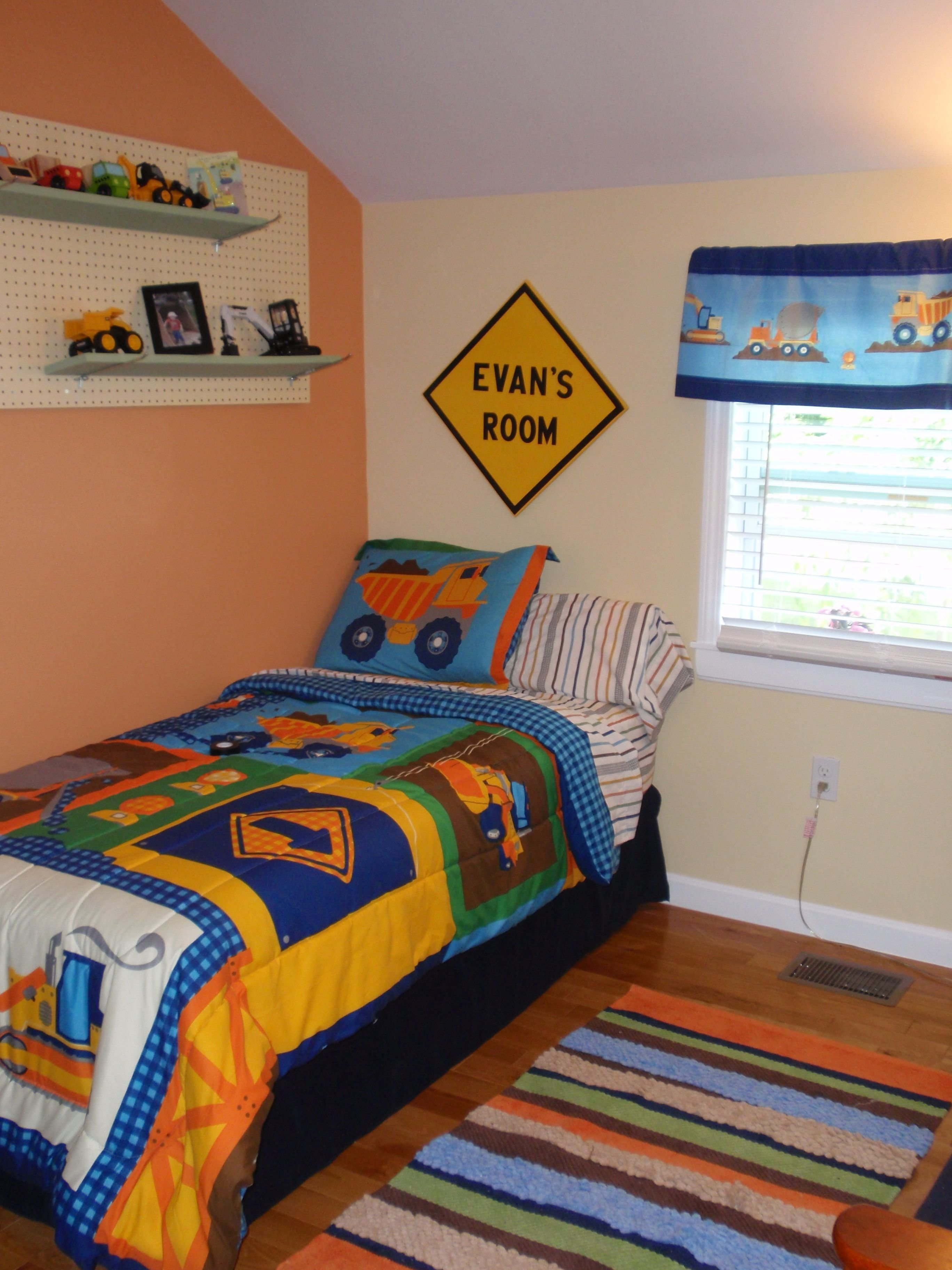Best Construction Truck Themed Toddler Boy S Room Theme Is With Pictures