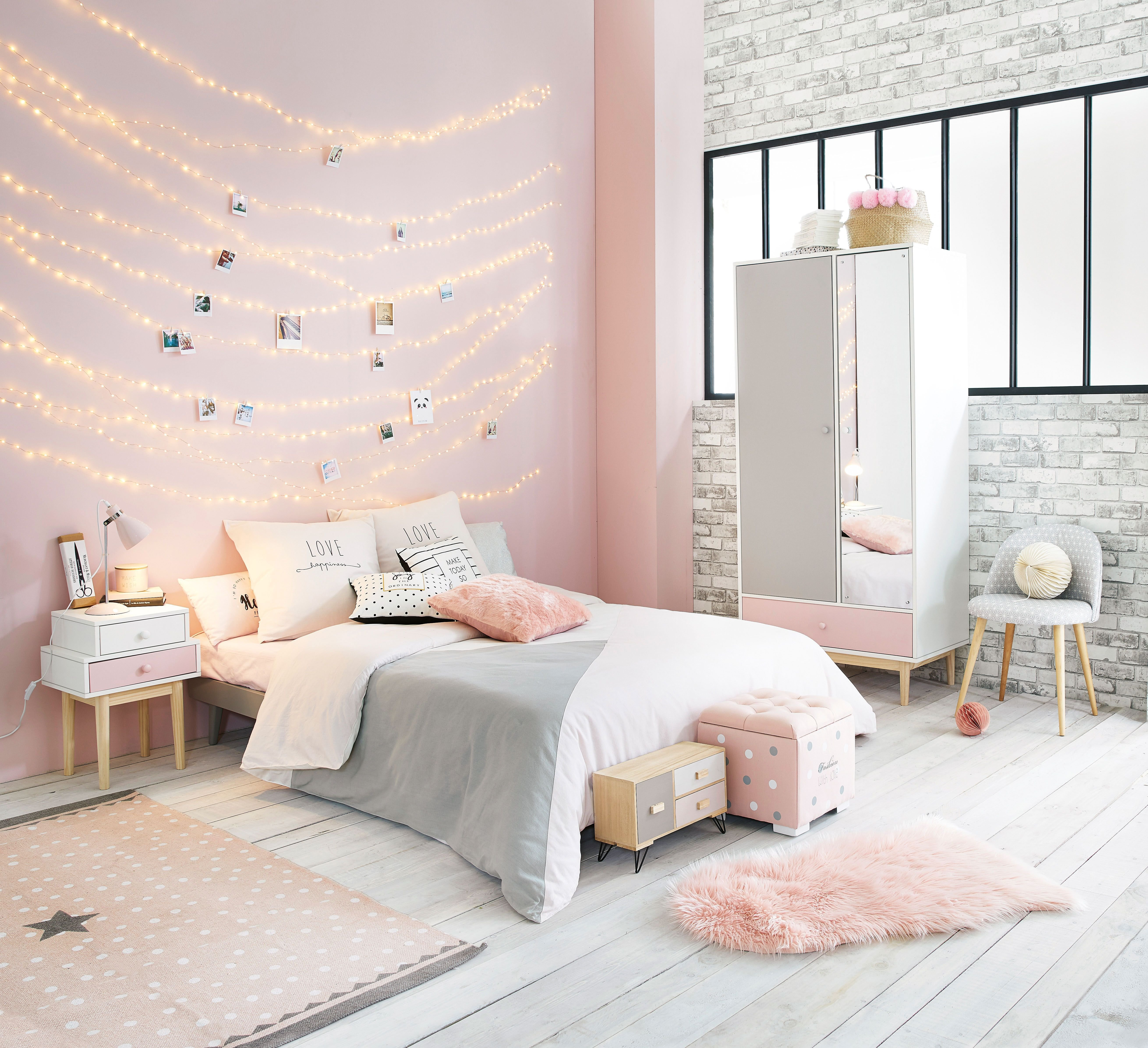 Best Pink White And Grey Girl S Bedroom Maisons Du Monde With Pictures