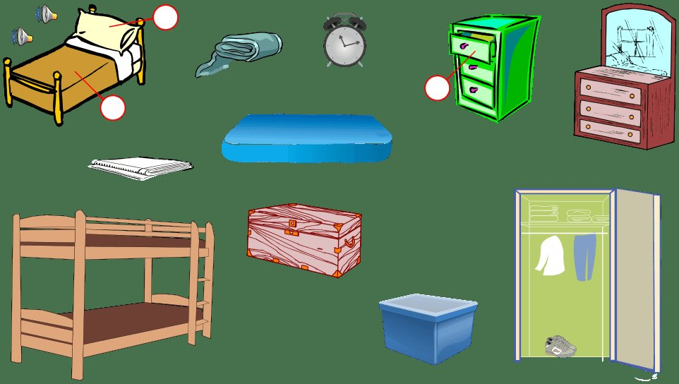 Best The Bedroom English Vocabulary Iwb Activity The With Pictures
