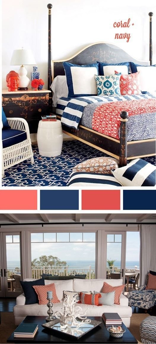 Best Navy And Coral Palette This Is For You Kristin Harker With Pictures