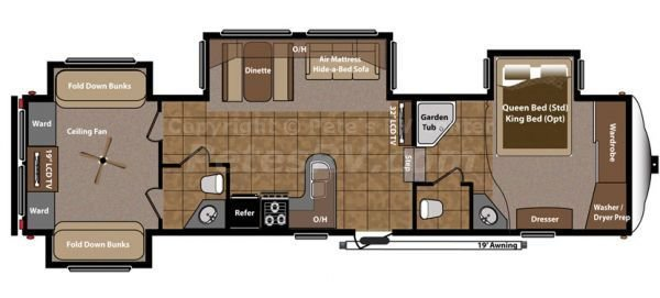 Best Fifth Wheel 2 Bedroom Campers Roughin It Pinterest With Pictures