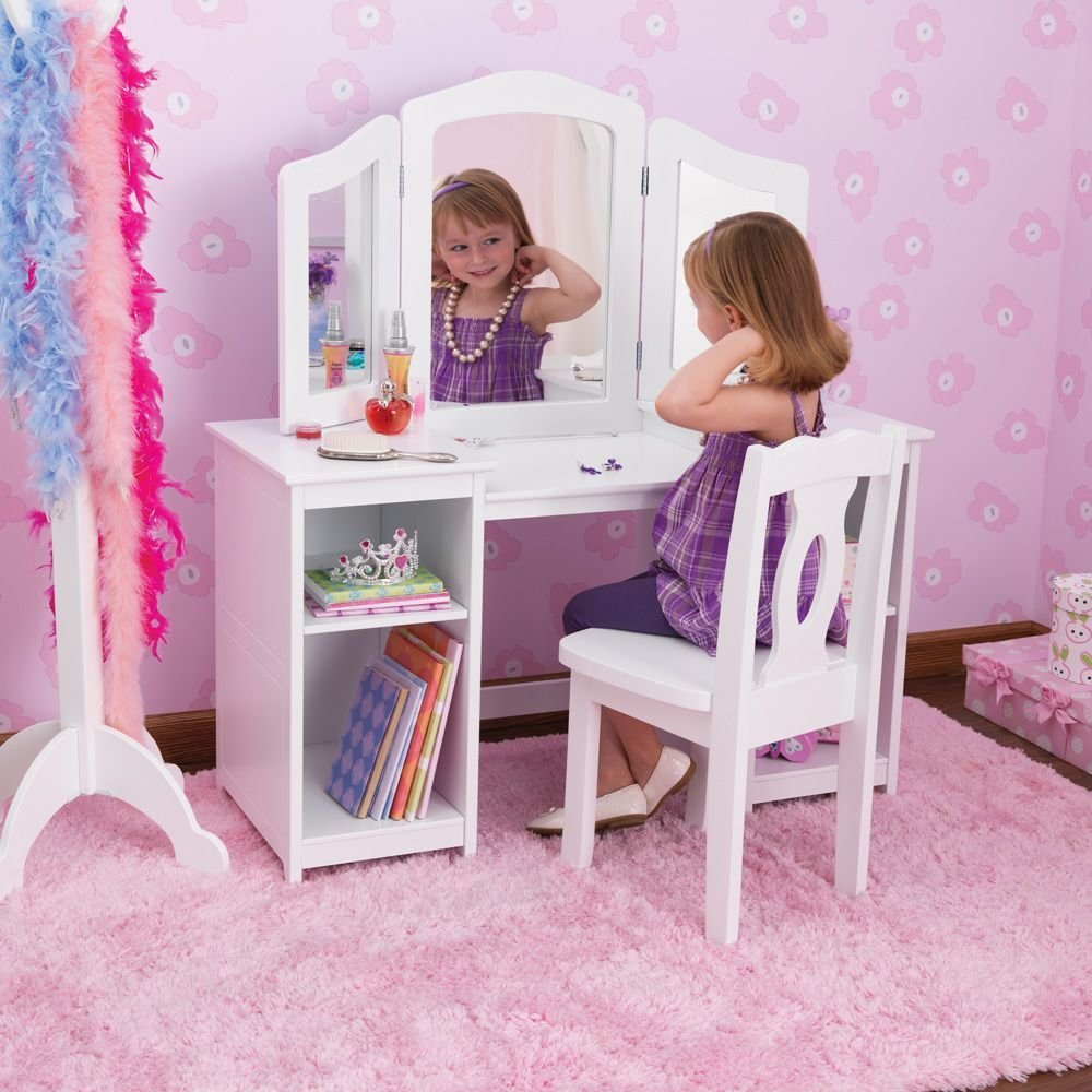 Best Kidkraft Deluxe Dressing Table Chair In White Costco With Pictures