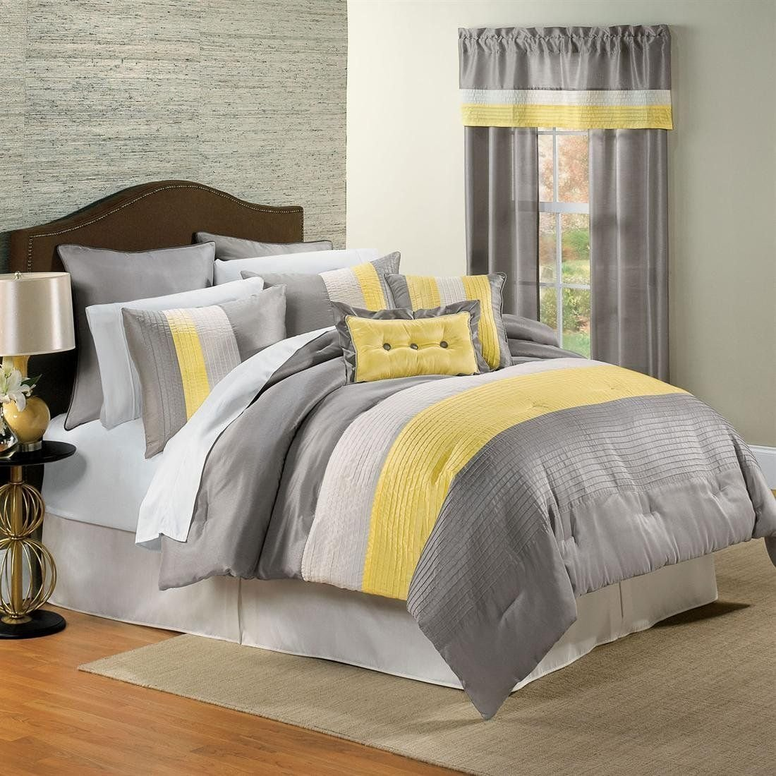 Best Yellow And Grey Bedding On Pinterest Comforter Sets With Pictures