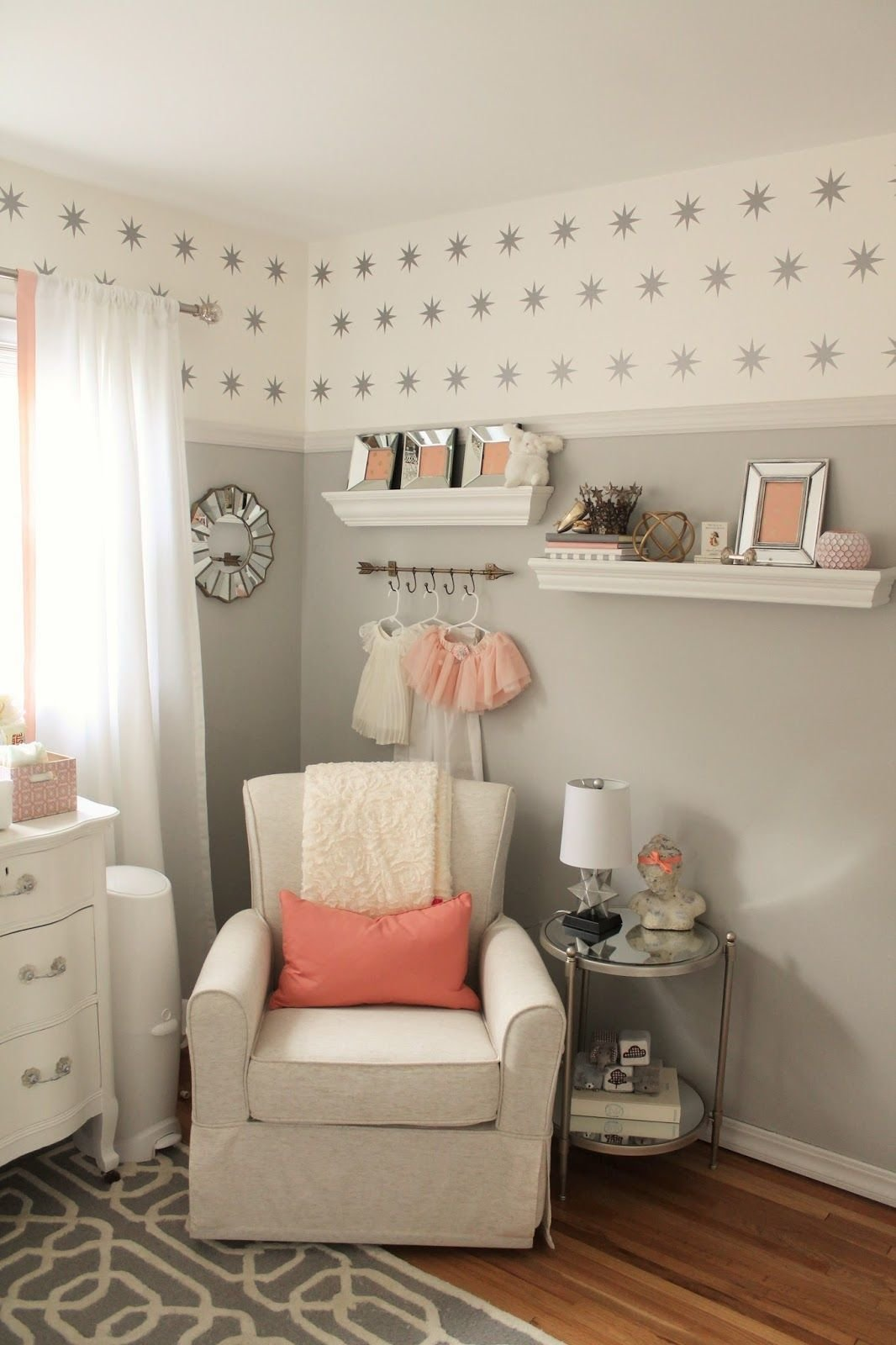 Best Peach And Gray Nursery Reveal Nursery And Peach With Pictures