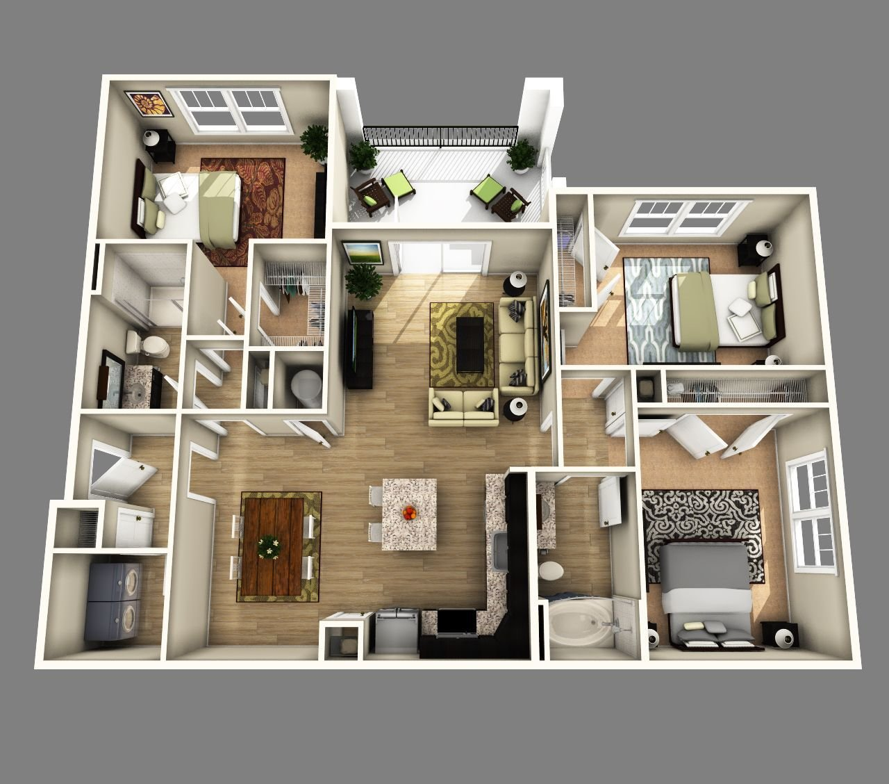 Best 3 Bedrooms Apartments Http Www Designbvild Com 4350 3 With Pictures