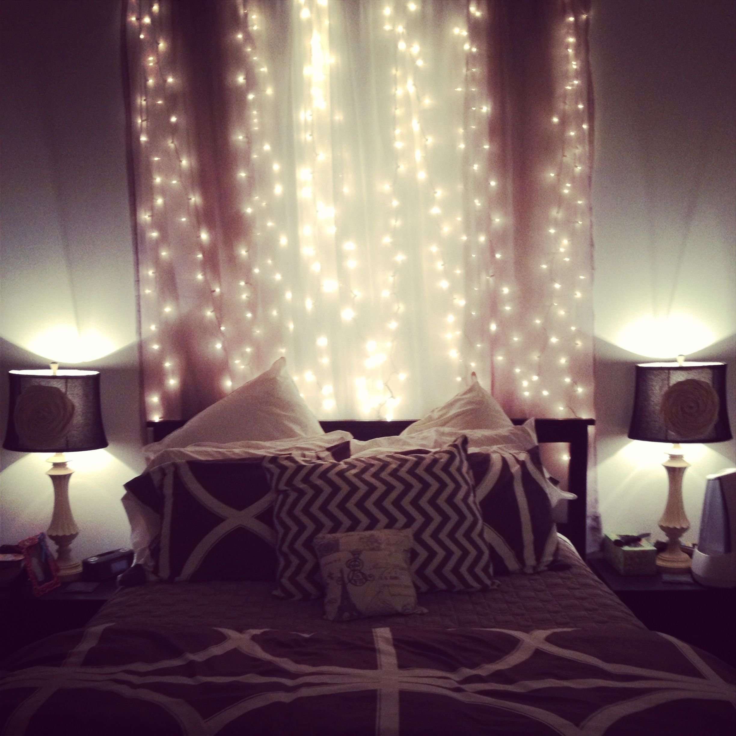 Best Fairy Lights In The Bedroom Dream House Pinterest With Pictures