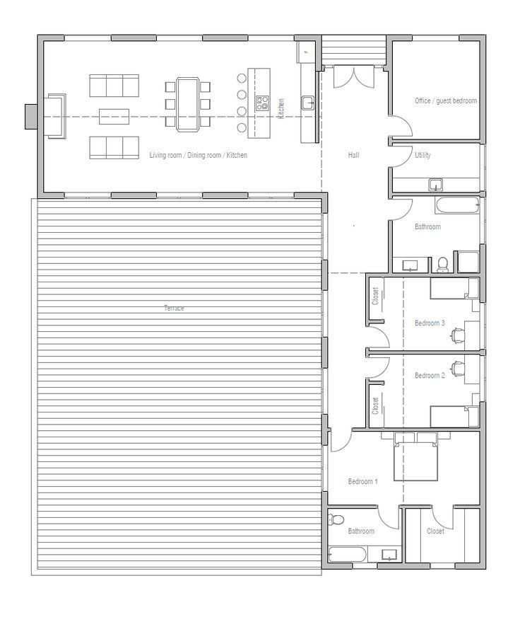 Best Image Result For L Shaped Single Story House Plans Baja With Pictures