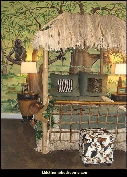 Best Safari Jungle Hut Decorating Theme Bedrooms Jungle Theme With Pictures