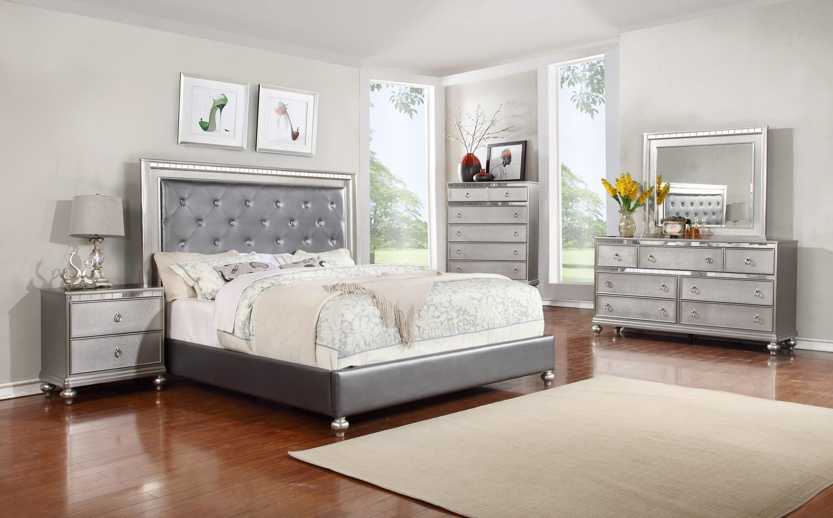 Best Glam 5Pc Queen Bedroom Set By Lifestyle Homedecor Home Decor Pinterest Bedroom Sets With Pictures