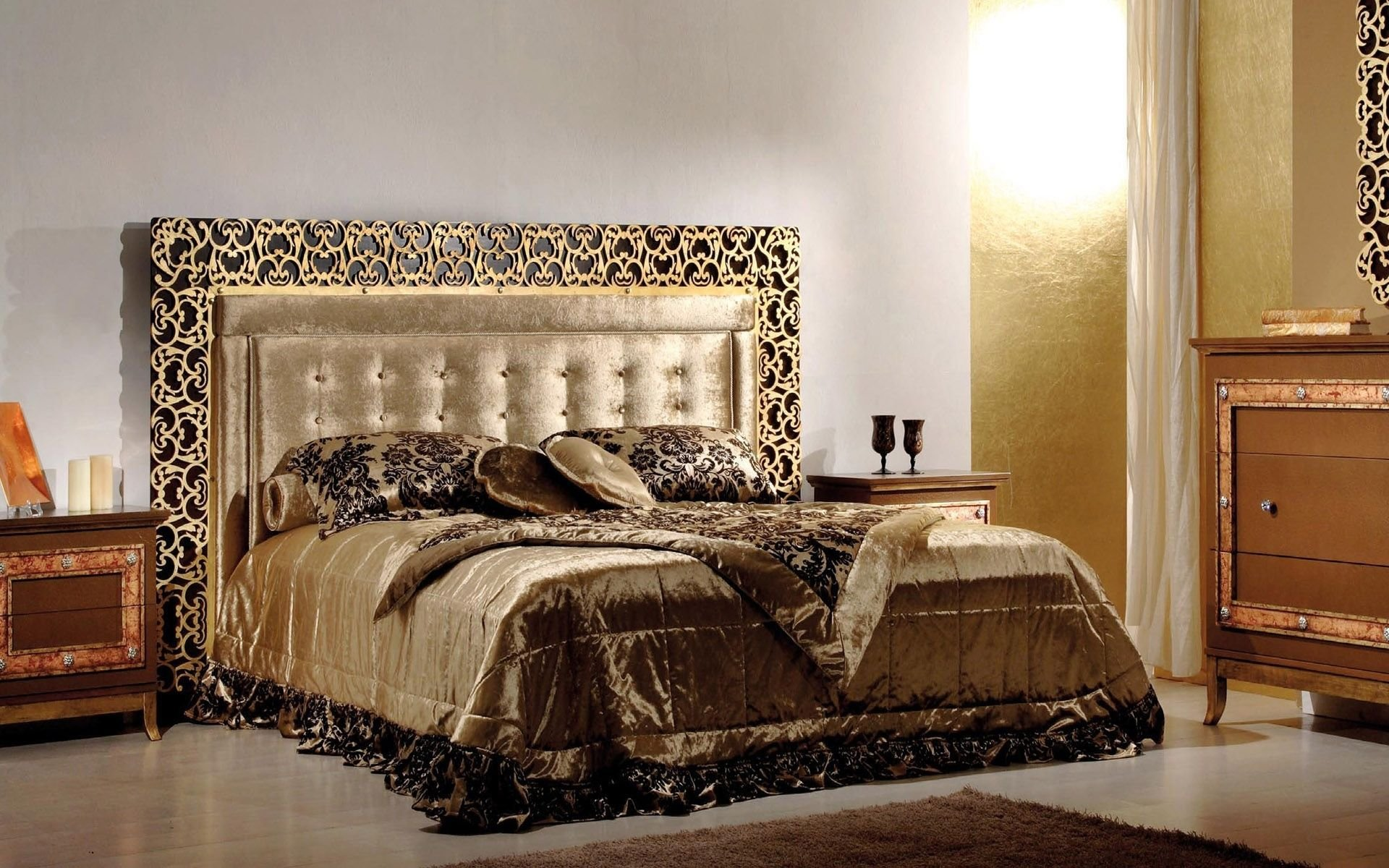 Best Luxury Inspiration Bed Collection Design Modern Gold Black With Pictures