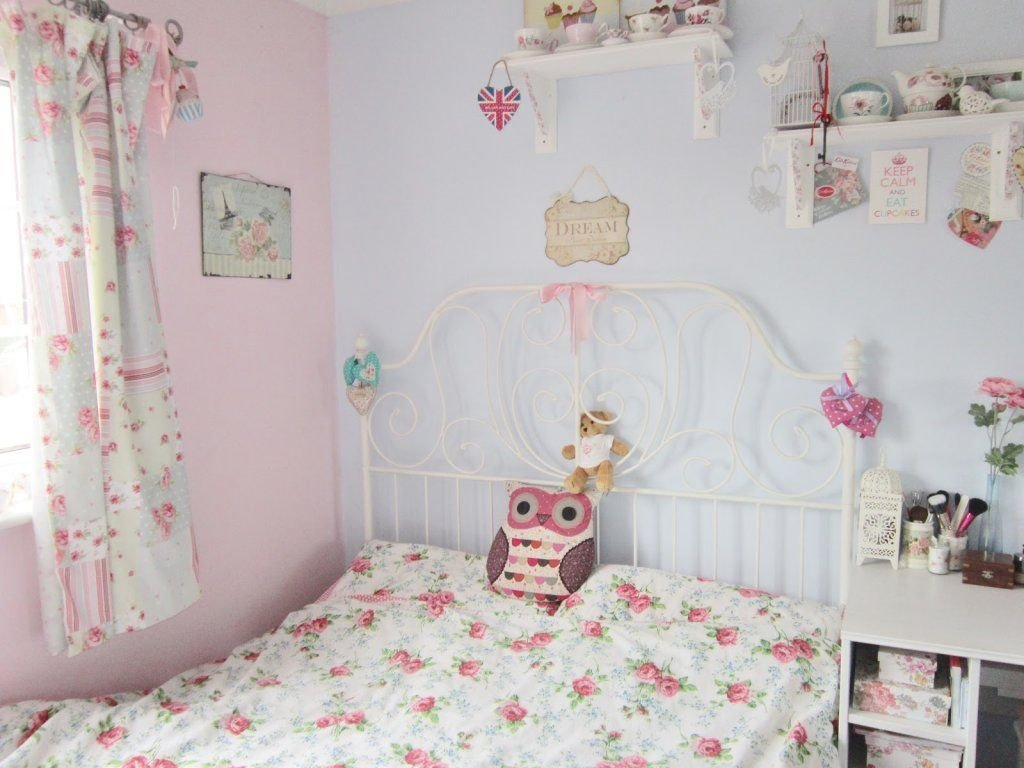 Best Pastel Blue And Pink Vintage Style Bedroom Ideas For Girl With Pictures