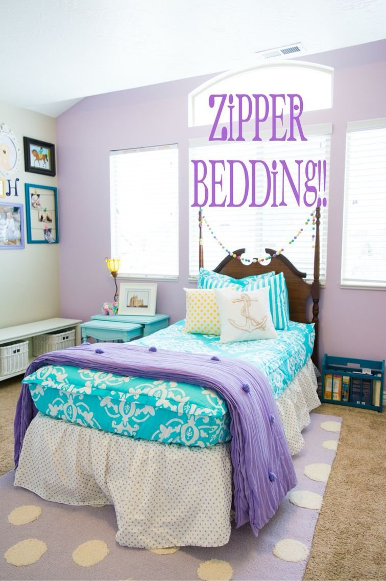 Best Turquoise And Purple Girls Bedding Love The Purple Accent With Pictures