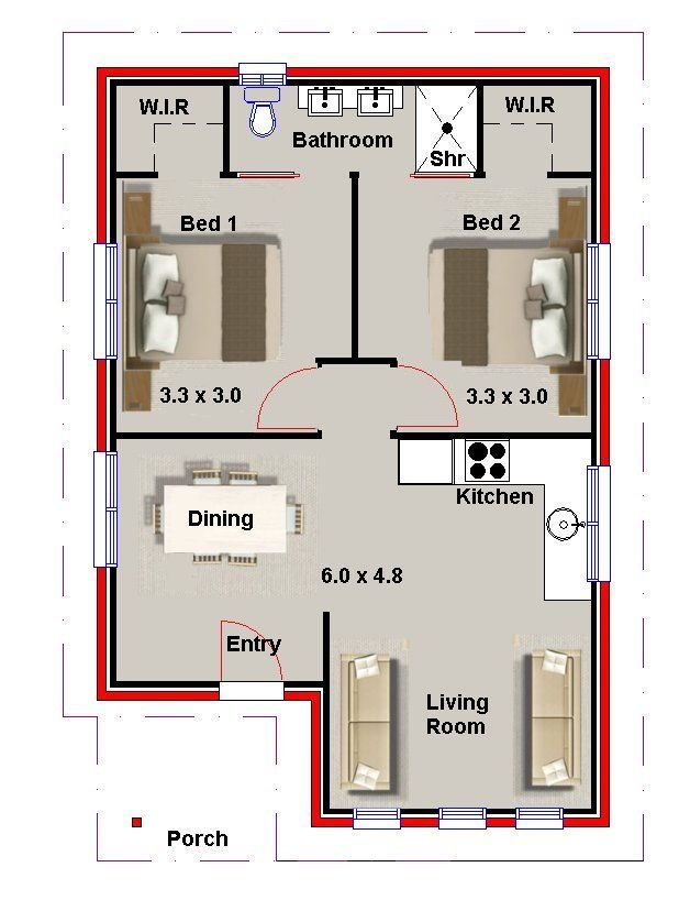 Best 2 Bedroom Small House Plans And Granny Flats Australian With Pictures