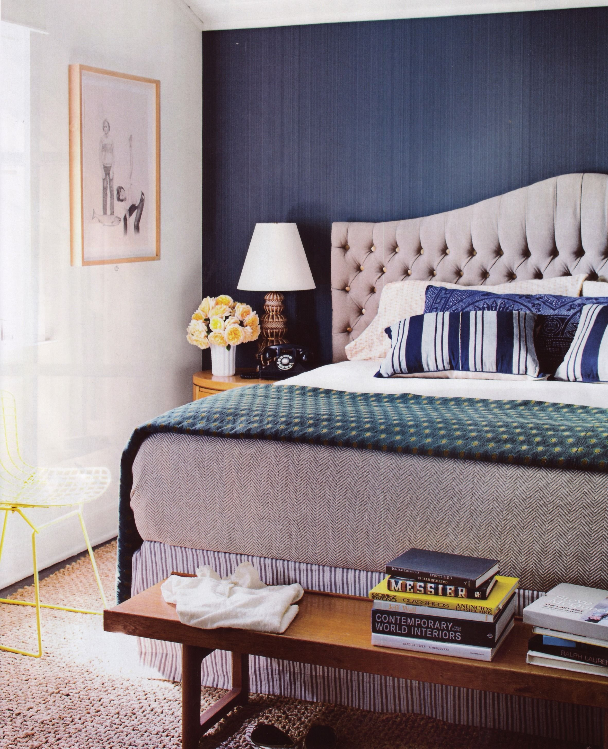 Best Navy Blue With Yellow Teal Accents Bedroom Pinterest With Pictures