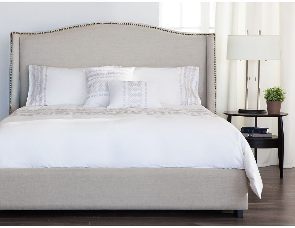 Best A Neutral Upholstered Headboard For The Bedroom With Pictures