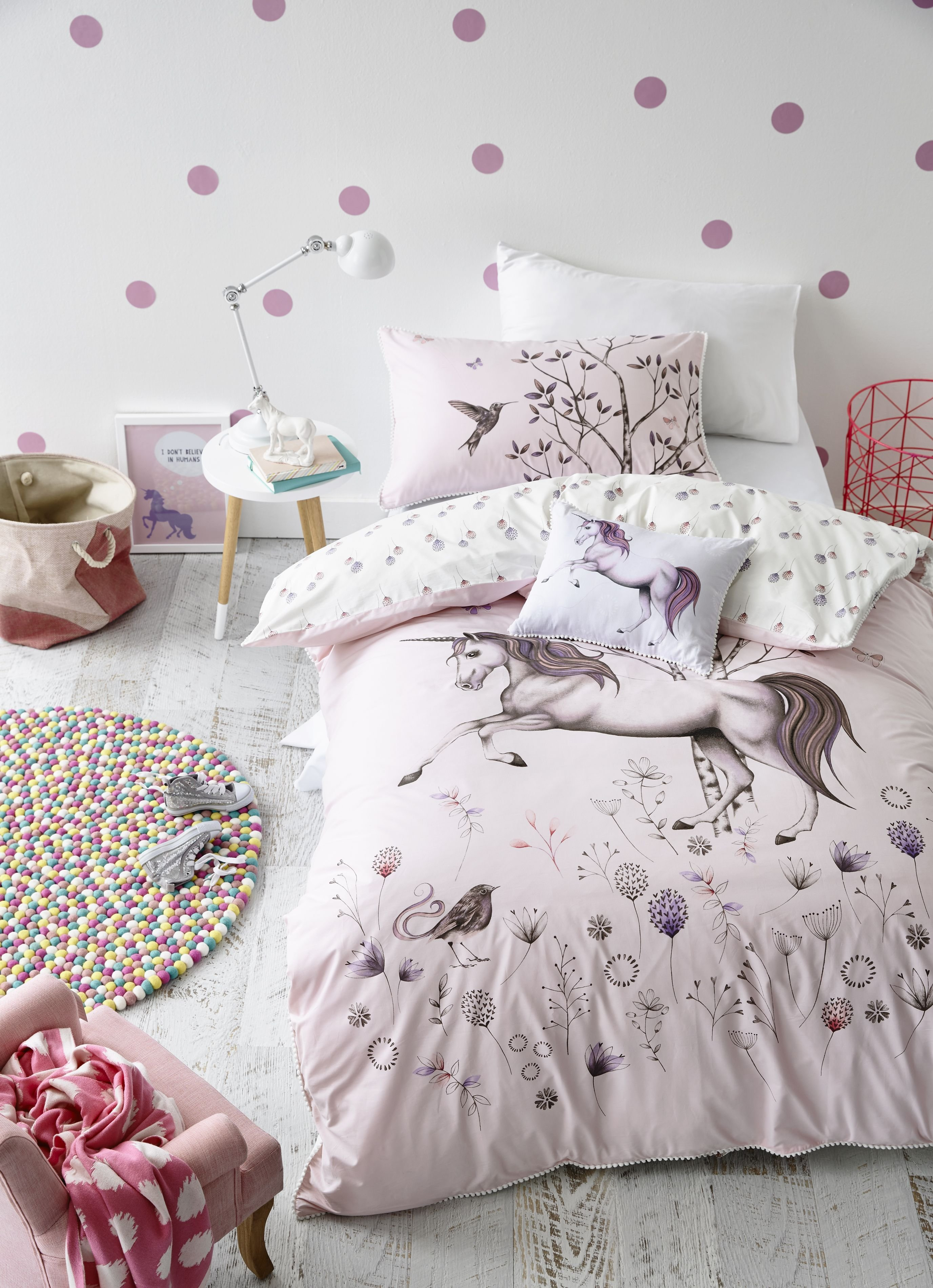 Best Adairs Kids Unicorn Dreaming Quilt Cover Set Kids With Pictures