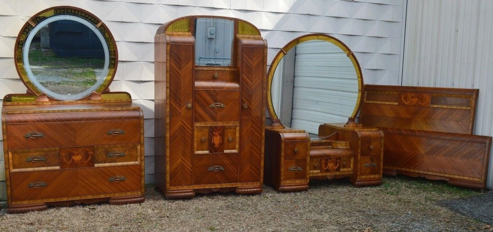 Best Art Deco Waterfall Bedroom Set Furniture Pinterest With Pictures