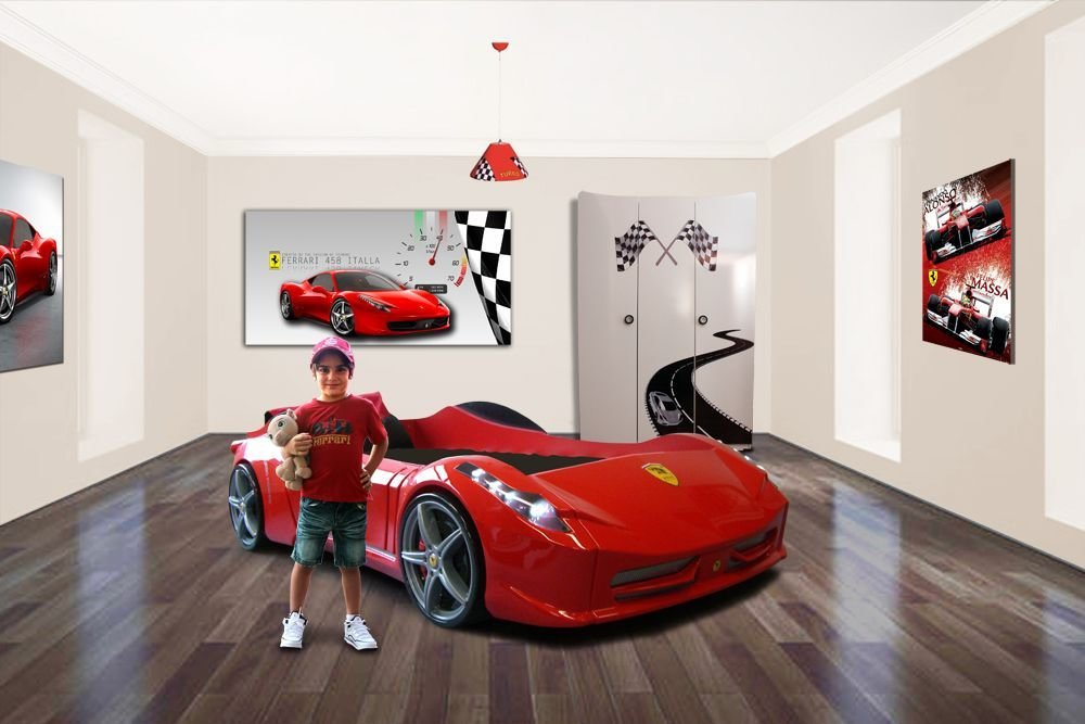 Best Car Bed Ferrari Car Bedroom Theme Boys Bedroom Boys With Pictures
