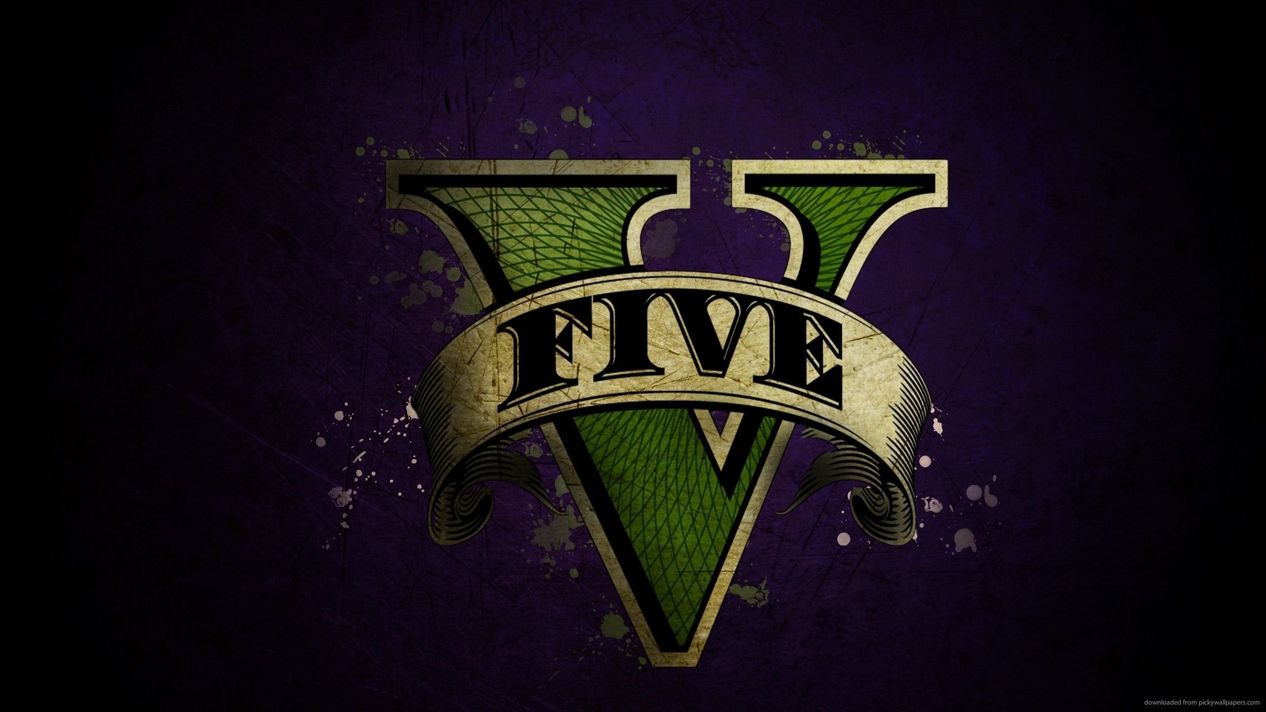 Best Gta 5 Logo Download 2560X1440 Gta 5 Logo Wallpaper With Pictures