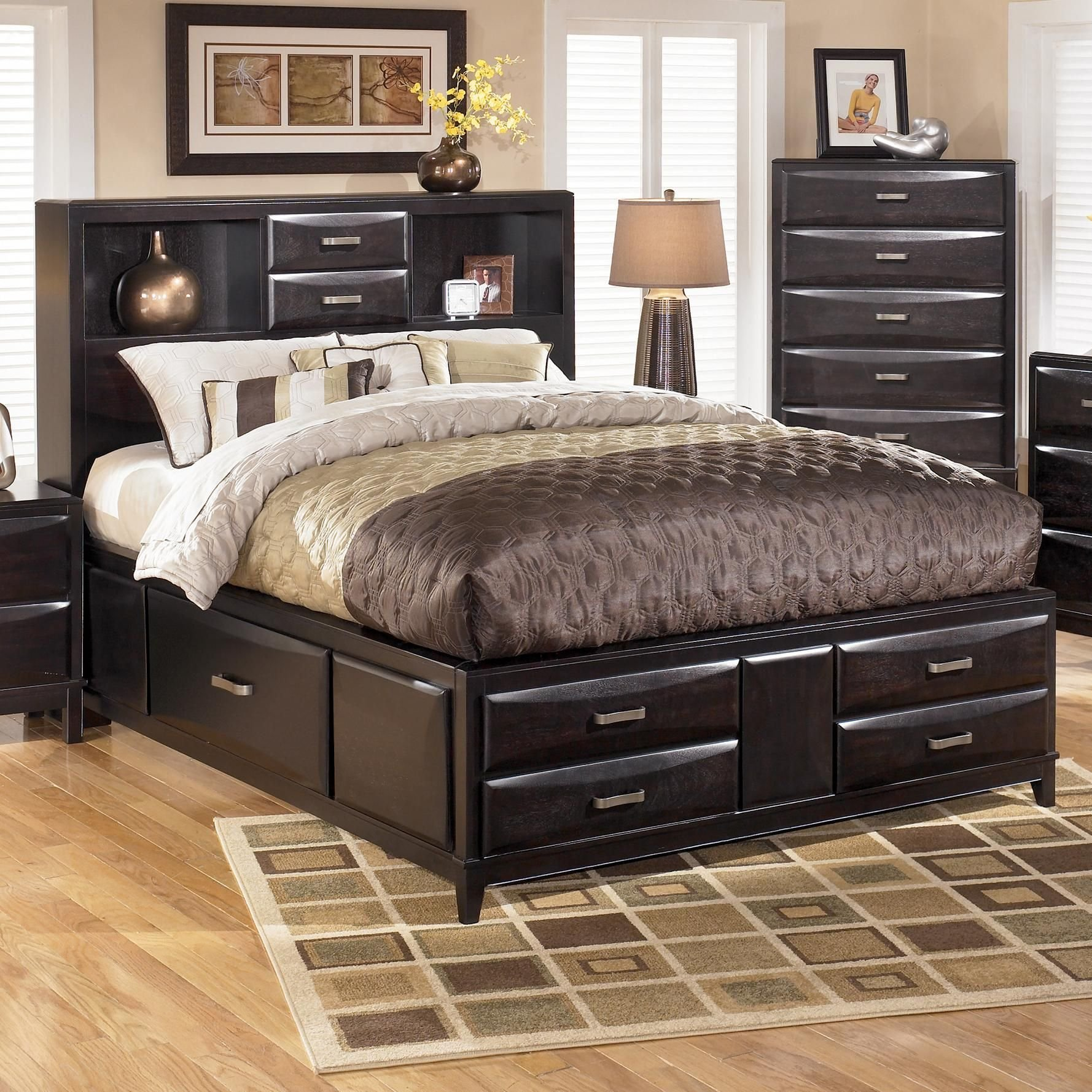 Best Kira Queen Storage Bed By Ashley Furniture L Fish With Pictures
