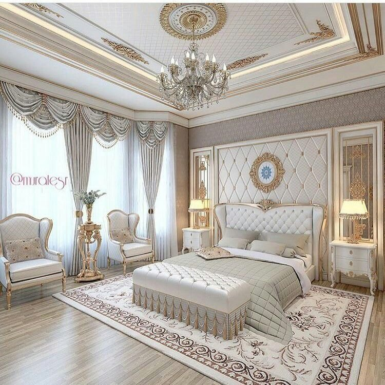 Best Luxury Bedroom Cream And White Beautiful Chandelier With Pictures