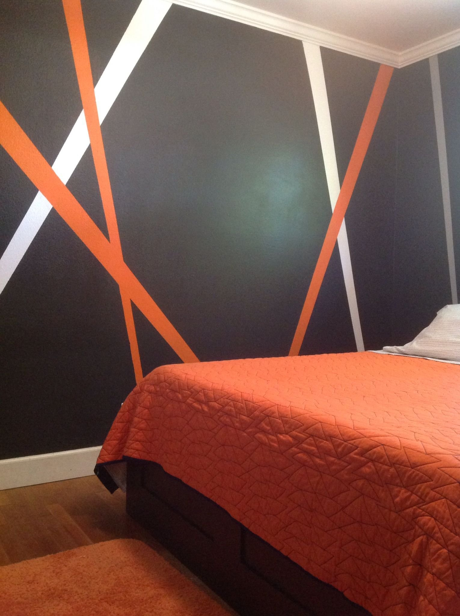 Best Grey Orange White My New Teenage Boy Bedroom Decor With Pictures
