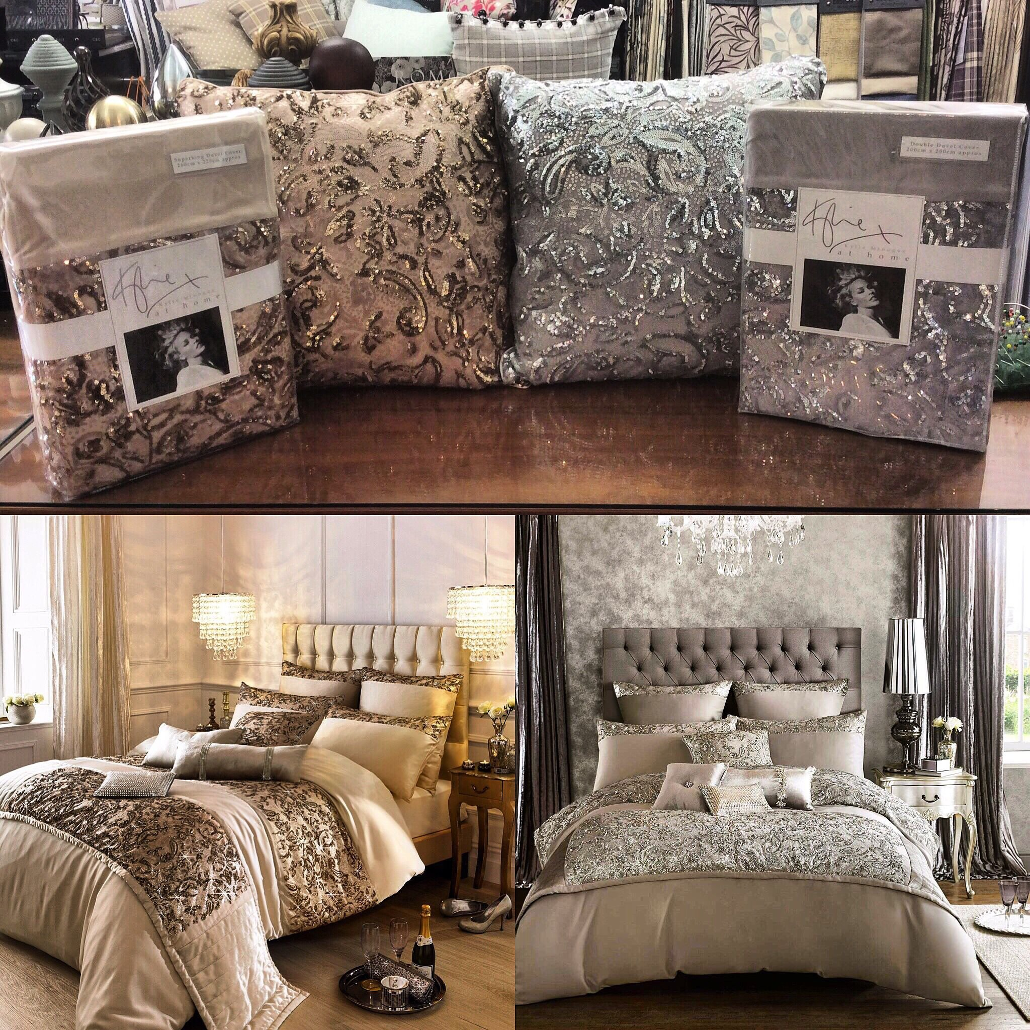 Best Kylie Minogue Alexa Sequin Bedding In Gold Or Silver Gold With Pictures