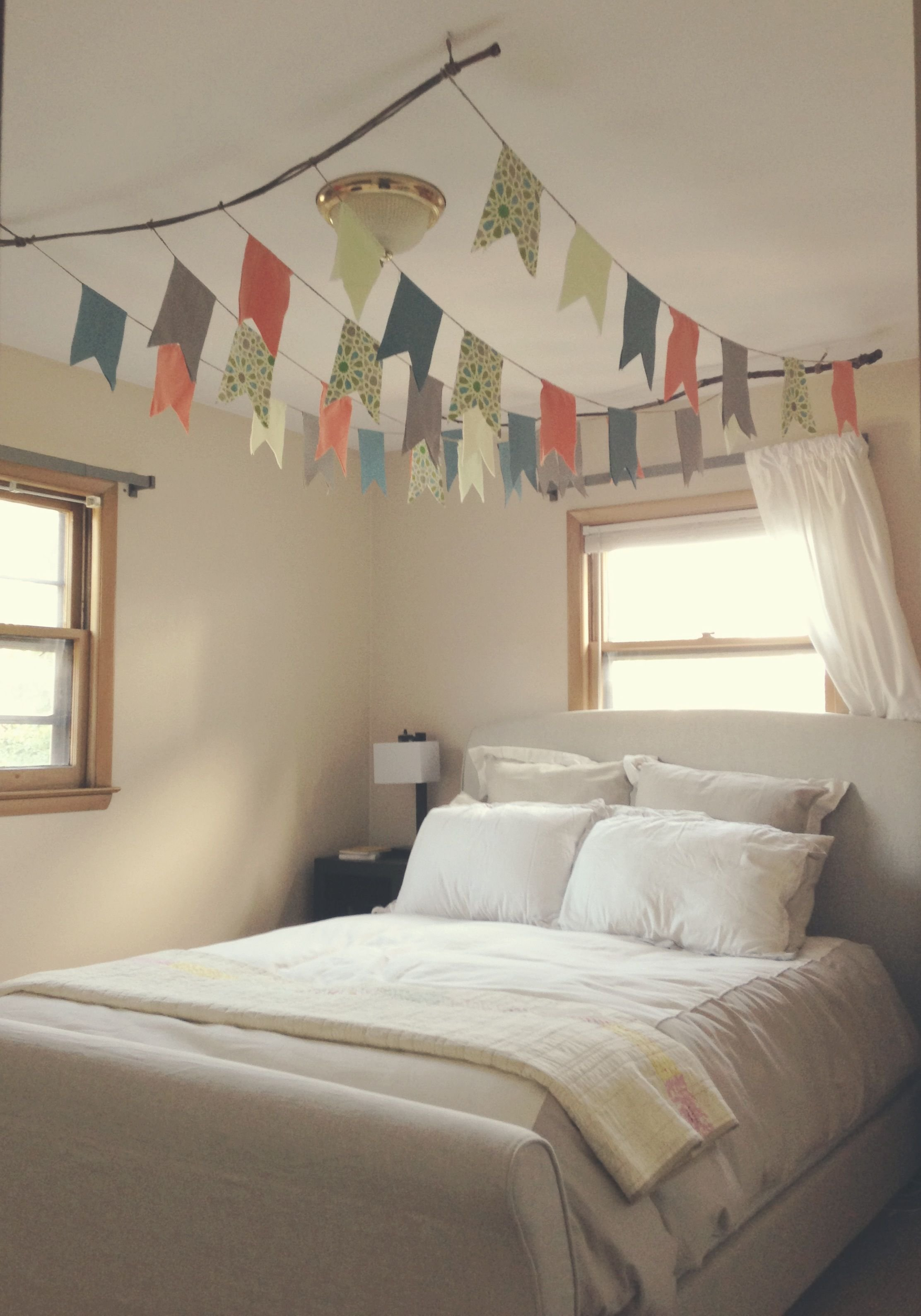 Best Diy Flag Canopy Over Bed Use Branches To Hang From The With Pictures