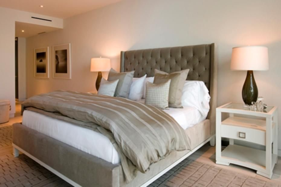 Best Plush Bedroom With Upholstered Headboard Home Decor With Pictures