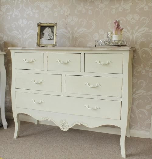 Best Chest Of Drawers Cream Bedroom Furniture Shabby French Style Vintage Chic No Place Like Home With Pictures