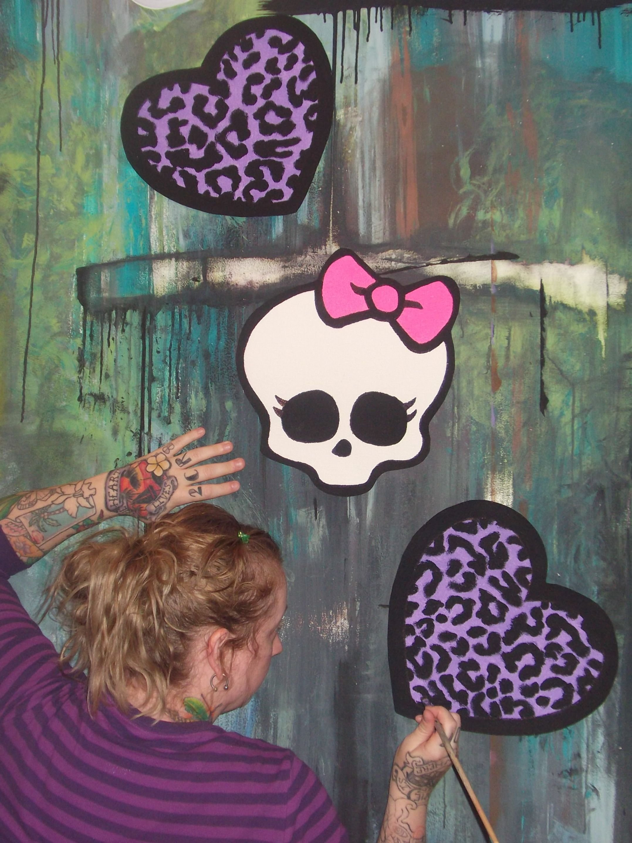 Best Monster High Room Ideas Hand Painted Wallpaper Murals By With Pictures