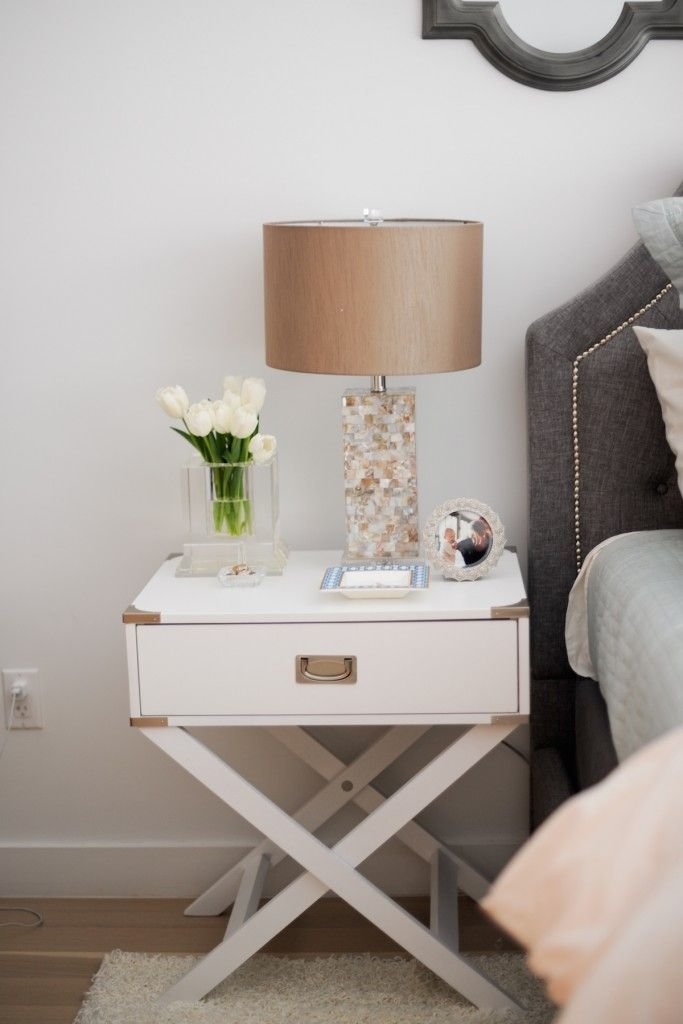 Best Inspire Q Neo White Accent Table With X Leg Nightstand With Pictures