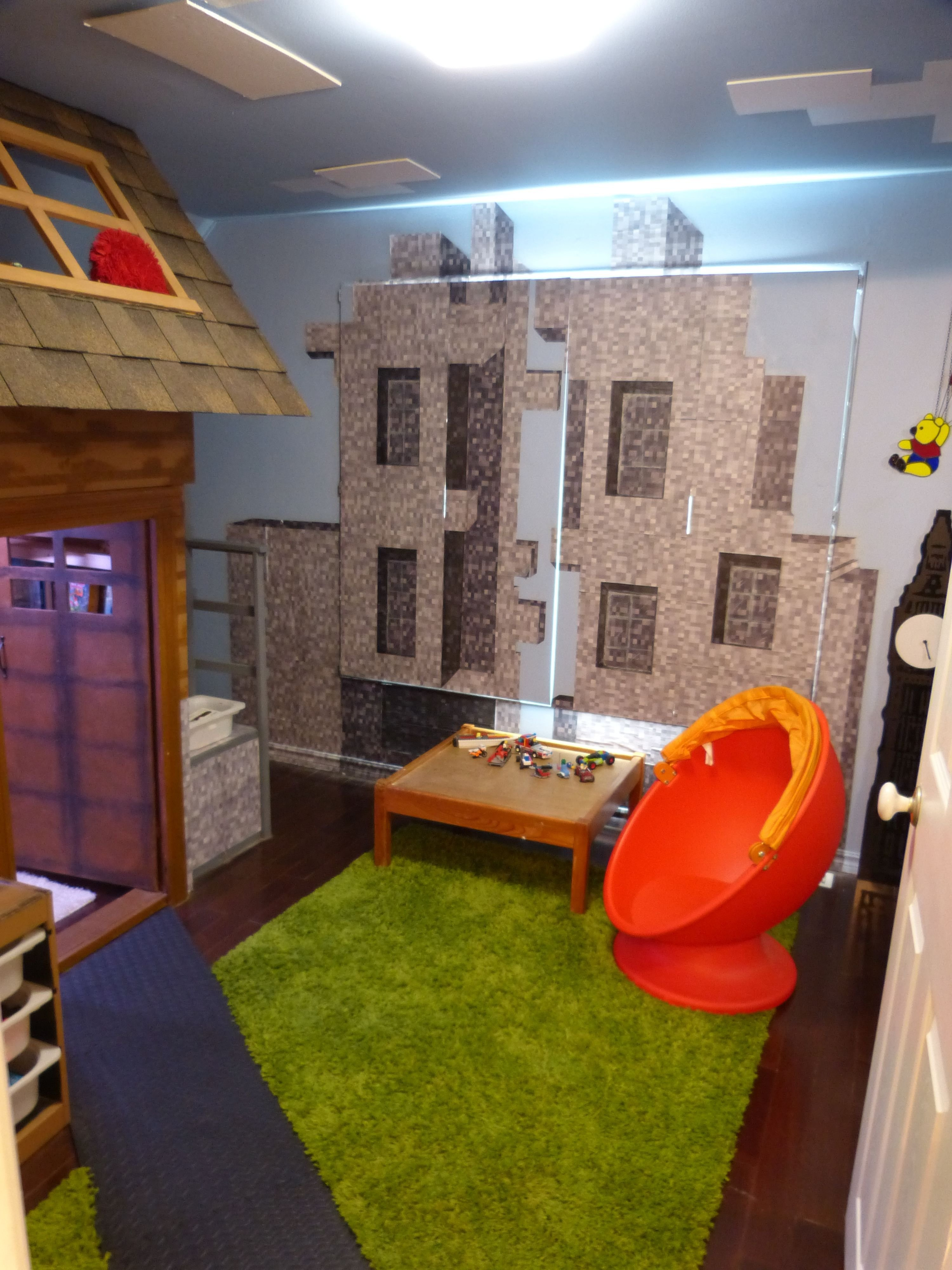 Best Bedroom Created To Look Like The Minecraft Village Created With Pictures